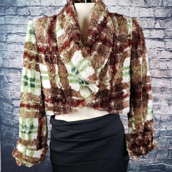 Austin Reed Jackets & Blazers - Austin Reed Vintage Plaid Crop Jacket Size 8